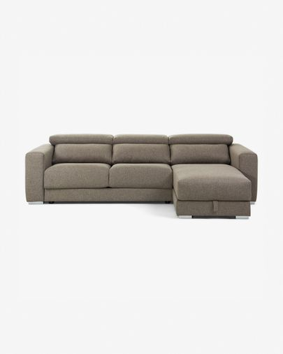 Sofà Atlanta 3 places chaise longue marró 290 cm