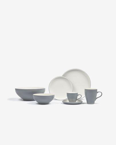 Sadashi Schale, klein, Porzellan, grau und weiß