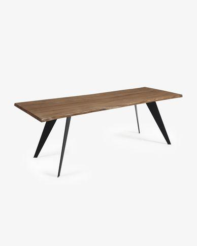 Table Koda 220 cm chêne vieilli pieds noir