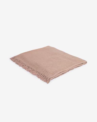 Manta Shallowy 100% algodón rosa claro 130 x 170 cm