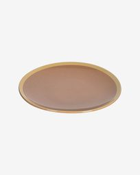 Tilla ceramic dinner plate in light brown