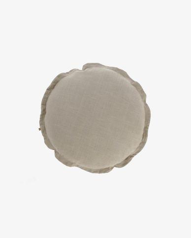 Kussenhoes Maelina Ø 45 cm beige
