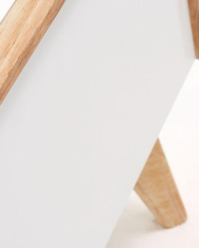 Móvel TV Melan 150 x 45 cm lacado branco e madeira maciça de seringueira