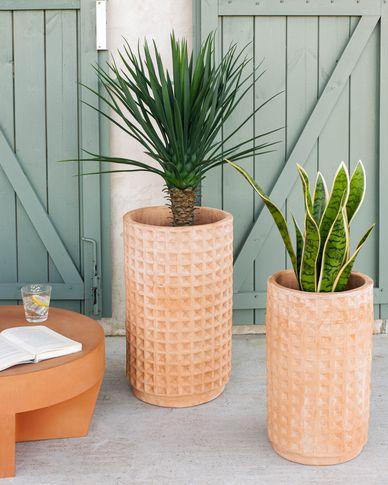 Celi set van 2 terracotta potten Ø 34 cm / Ø 25 cm