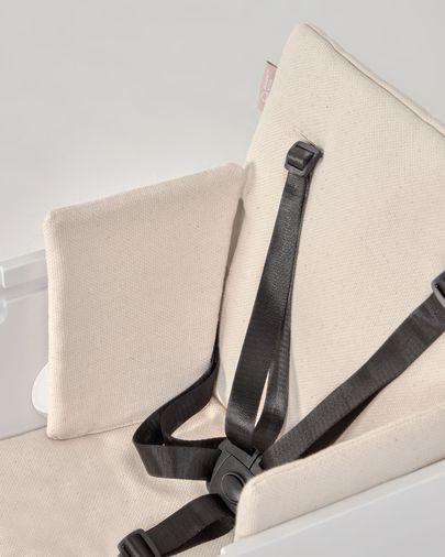 100% organic cotton (GOTS) Nuun highchair cushion with natural finish