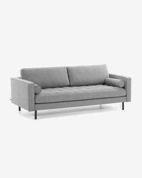 Debra 3-seater sofa in light grey 222 cm