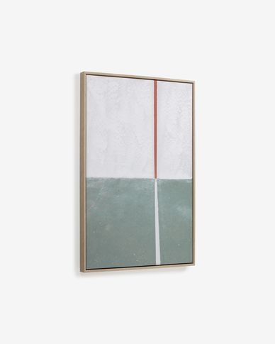 Schilderij Malvern in groene-wit 50 x 70 cm