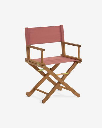 Chaise de jardin pliante Dalisa terracotta en bois massif d'acacia FSC 100%