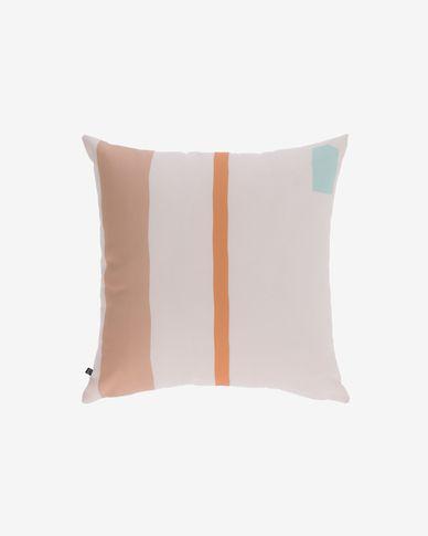 Poszewka na poduszkę Calantina pionowe pasy wielokolorowa 45 x 45 cm