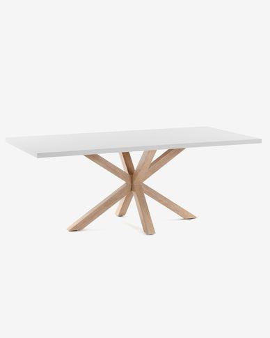 Taula Argo 180 cm melamina blanc potes efecte fusta