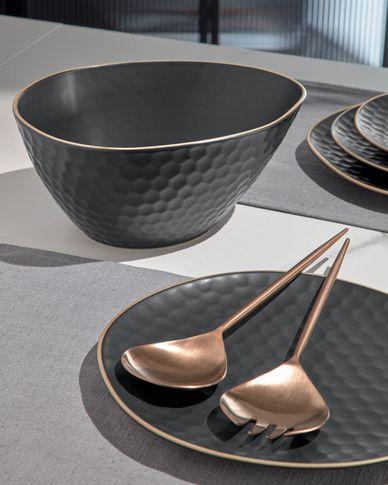 Bol Manami grande de cerámica negro