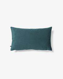 Lita cushion cover 30 x 50 cm turquoise velvet