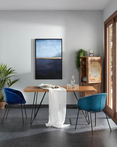 Wrigley Bild, blau