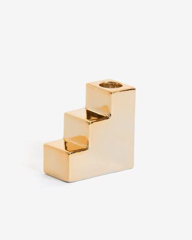 Portacandela Anteia dorato