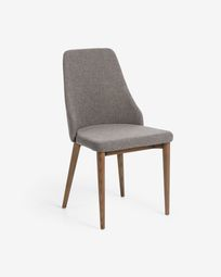 Rosie chair light grey dark finish
