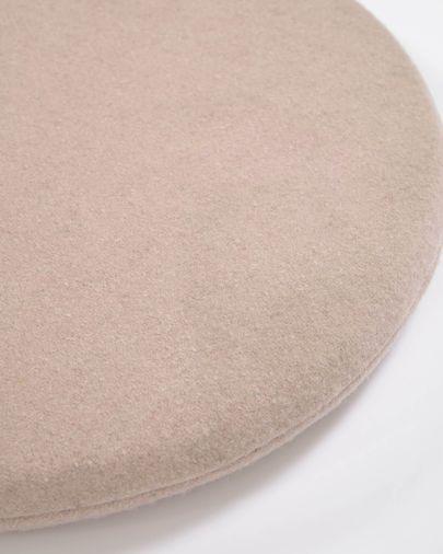 Biasina rundes Stuhlkissen 100% Wolle rosa Ø 35 cm