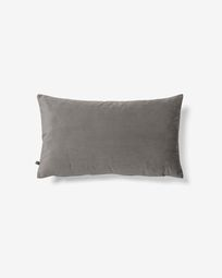 Lita cushion cover 30 x 50 cm grey velvet