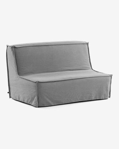 Canapé-lit Lyanna 140 cm gris