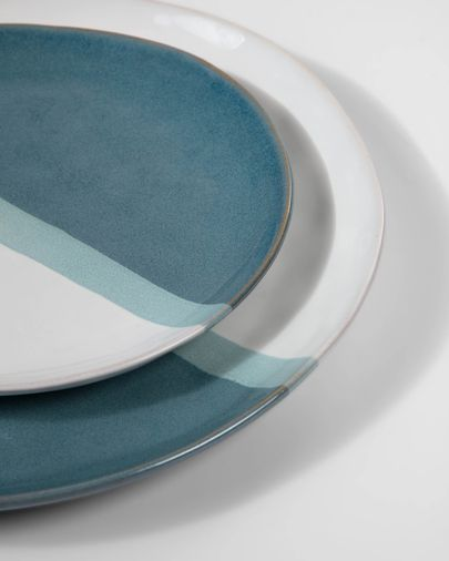 Plat pla Nelba blanc i blau