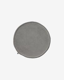 Rimca Sitzkissen, rund, Samt, hellgrau, Ø 35 cm