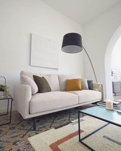 Galene 3-seater sofa in beige 214 cm