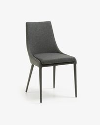 Davi chair dark grey synthetic leather