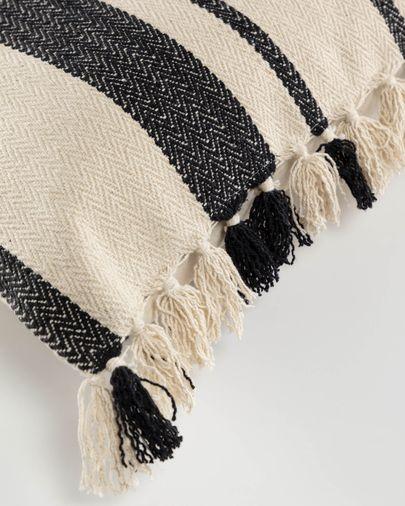 Brafton zwart strepen kussensloop 45 x 45 cm