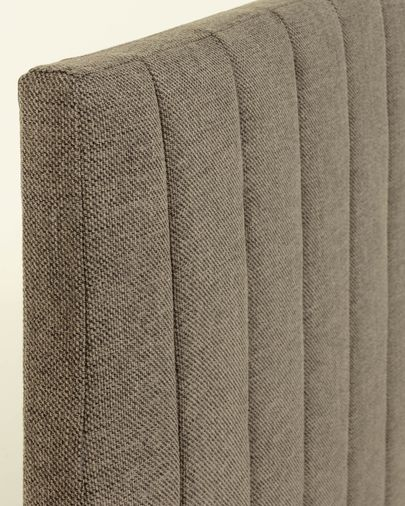 Letto con rete Nelly 90 x 190 cm grigio