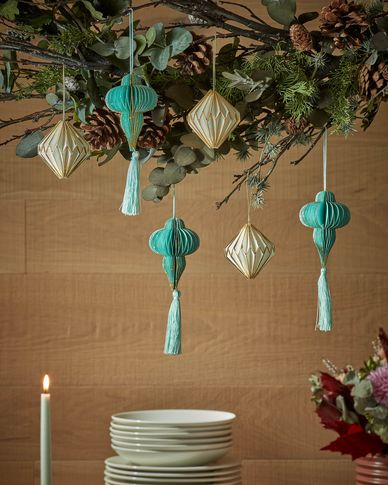 Set Corina groene decoratieve hanger