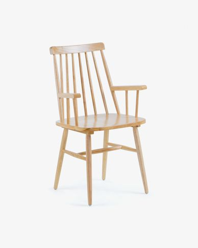 Chaise avec accoudoirs Tressia  naturel