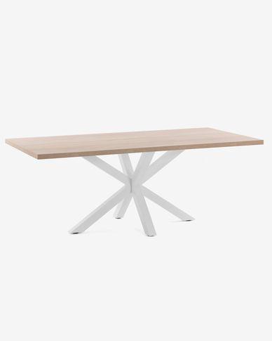 Argo table 180 cm natural melamine white legs