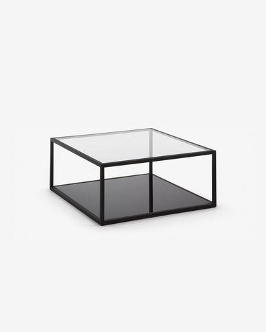 Tavolino quadrato Blackhill 80 x 80 cm nero