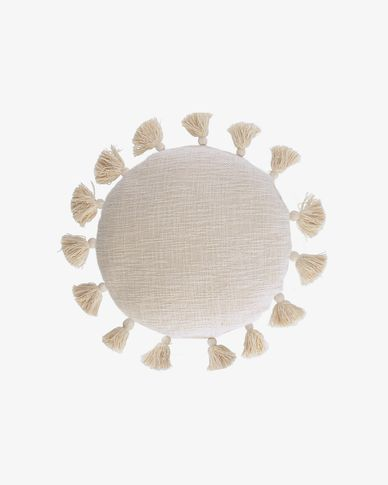 Chiarina beige kussenhoes Ø 45 cm