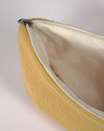 Trousse de toilette Breisa 100% coton (GOTS) moutarde