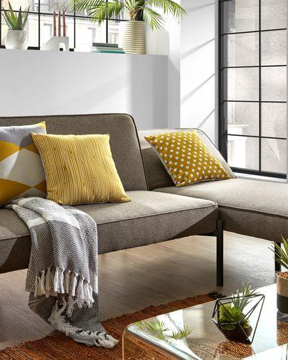 Sofá cama y chaise longue Nelki gris