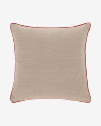 Dalila PET beige cushion cover 60 x 60 cm