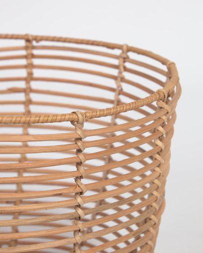 Set Daliña de 2 cestas redondas 100% ratán con acabado natural