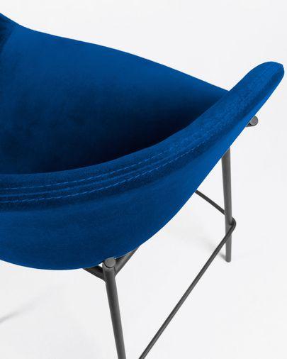 Sgabello Yvette velluto blu altezza 74 cm