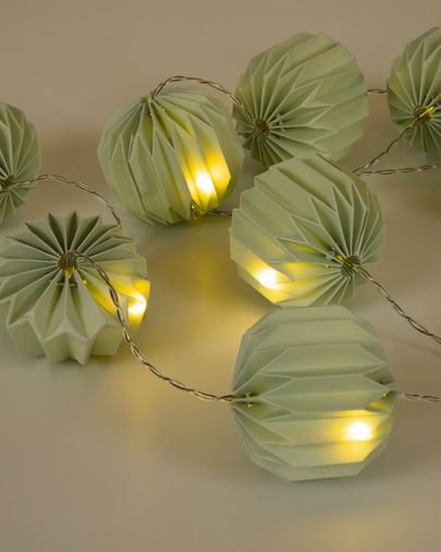 Yulia green string LED lights 10 cm