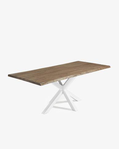 Argo table 220 cm antique oak white legs