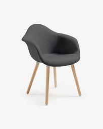 Dark grey Kevya chair