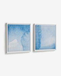 Maeva set of 2 picture with blue seas 40 x 40 cm