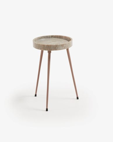 Table d'appoint Rubie Ø 32 cm beige