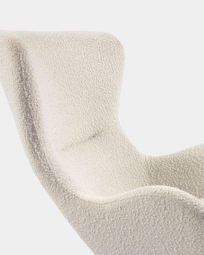 Mecedora Vania de borrego blanco