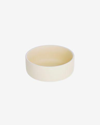 Bol pequeño Roperta de porcelana beige