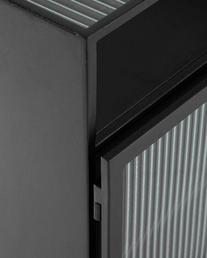 Tauleta de nit Trixie acer amb acabat negre 45 x 58 cm