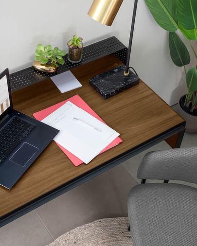 Nadyria Schreibtisch Nussbaum 120 x 55 cm