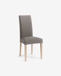 Grey and natural Freda chair