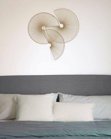 Witte kussenhoes Shallow van 100% katoen 30 x 50 cm