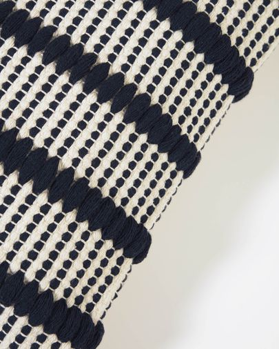 Maine 100% cotton cushion cover with black and white stripes 45 x 45 cm